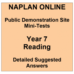 NAPLAN Online MiniTest Answers Reading Year 7