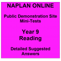 NAPLAN Online MiniTest Answers Reading Year 9