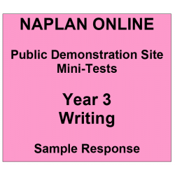 NAPLAN Online MiniTest Answers Writing Year 3