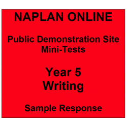 NAPLAN Online MiniTest Answers Writing Year 5