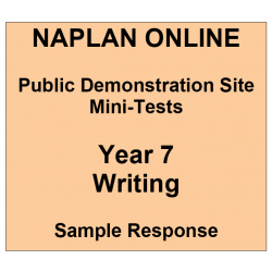 NAPLAN Online MiniTest Answers Writing Year 7