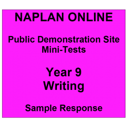 NAPLAN Online MiniTest Answers Writing Year 9