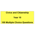 Multiple choice questions - Civics and Citizenship Year 10