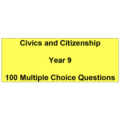 Multiple choice questions - Civics and Citizenship Year 9