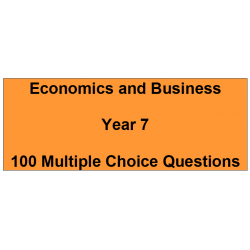 Multiple choice questions - Economics and Business Year 7