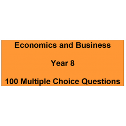 Multiple choice questions - Economics and Business Year 8