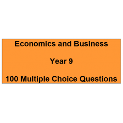 Multiple choice questions - Economics and Business Year 9