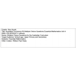 Multiple choice questions - Essential Mathematics Unit 4