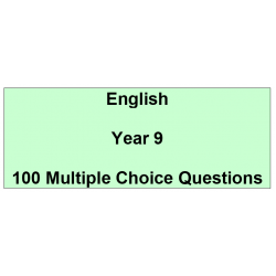 Multiple choice questions - English Year 9