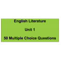 Multiple choice questions - English Literature Unit 1