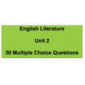 Multiple choice questions - English Literature Unit 2