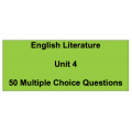 Multiple choice questions - English Literature Unit 4