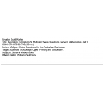 Multiple choice questions - General Mathematics Unit 1