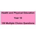 Multiple choice questions - Health and Physical Education Year 10