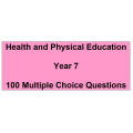 Multiple choice questions - Health and Physical Education Year 7