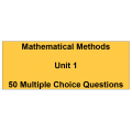 Multiple choice questions - Mathematical Methods Unit 1