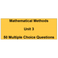 Multiple choice questions - Mathematical Methods Unit 3