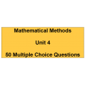 Multiple choice questions - Mathematical Methods Unit 4