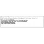 Multiple choice questions - Mathematical Methods Unit 4