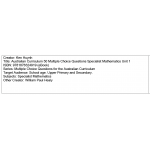 Multiple choice questions - Specialist Mathematics Unit 1