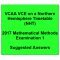 Detailed answers 2017 VCAA VCE NHT Mathematical Methods Examination 1