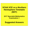 Detailed answers 2017 VCAA VCE NHT Specialist Mathematics Examination 1