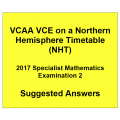 Detailed answers 2017 VCAA VCE NHT Specialist Mathematics Examination 2