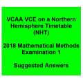 Detailed answers 2018 VCAA VCE NHT Mathematical Methods Examination 1