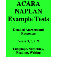Detailed answers to all ACARA Example Tests
