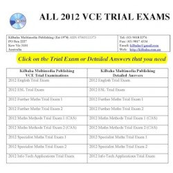 2012 VCE Trial Examinations