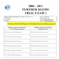 #VCE Further Maths Trial Exams 1 - six exams
