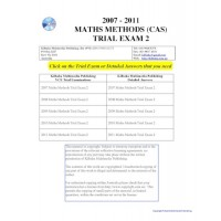 #VCE Maths Methods Trial Exams 2 - five exams