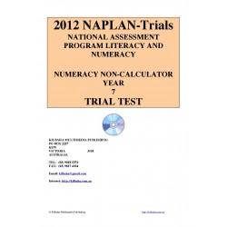 2012 Y7 Numeracy Non-Calculator