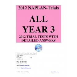 All 2012 NAPLAN Year 3 Trial Tests
