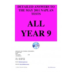 All answers May 2011 Year 9