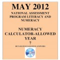 Year 7 May 2012 Numeracy Calculator - Answers