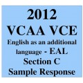 2012 VCAA VCE EAL Section C Sample Response