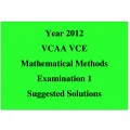 Answers to the 2012 VCAA VCE Exam - Maths Methods Exam 1