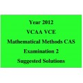 Answers to the 2012 VCAA VCE Exam - Maths Methods Exam 2