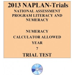 2013 Y7 Numeracy Calculator Allowed