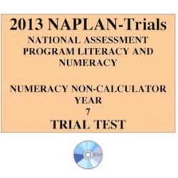 2013 Y7 Numeracy Non-Calculator