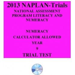 2013 Y9 Numeracy Calculator Allowed