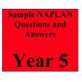 Year 5 NAPLAN - samples