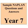 Year 7 NAPLAN - samples