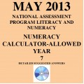Year 7 May 2013 Numeracy Calculator - Answers