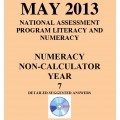 Year 7 May 2013 Numeracy Non-Calculator - Answers
