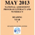 Year 7 May 2013 Reading - Answers