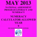 Year 9 May 2013 Numeracy Calculator - Answers