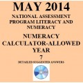 Year 7 May 2014 Numeracy Calculator - Answers