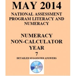 Year 7 May 2014 Numeracy Non-Calculator - Answers